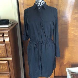 Ann Taylor Loft Lounge button down shirt dress